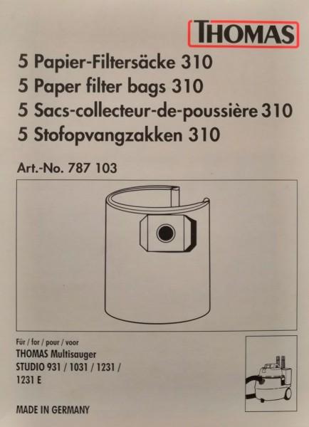 Thomas Papier-Filtersäcke 310