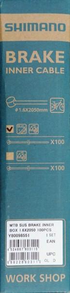 Shimano Innenzug für Bremse MTB (Ø 1,6 x 2050 mm)