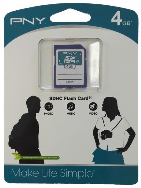 PNY 4GB Speicherkarte SDHC Class 4